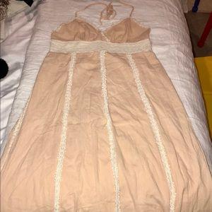VGUC, maxi halter dress, blush color, size Large
